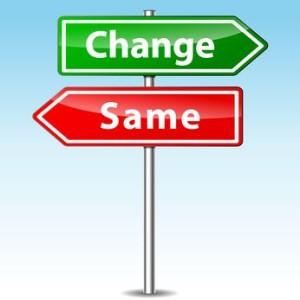 Change Vs. Same